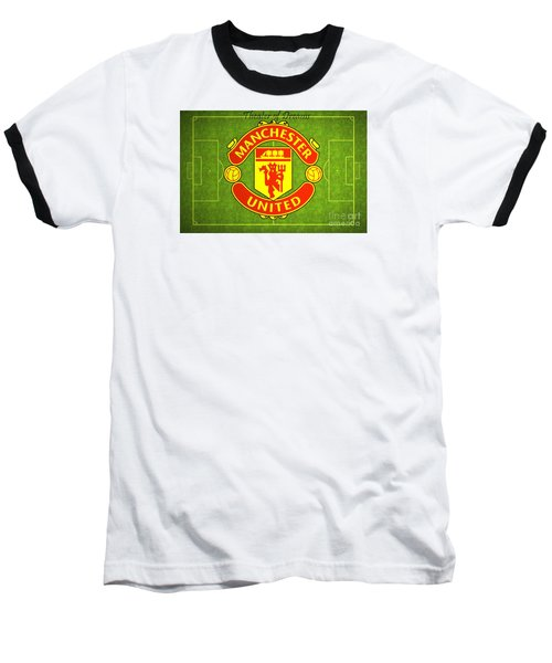 Manchester United Theater Of Dreams Large Canvas Art, Canvas Print, Large Art, Large Wall Decor Baseball T-Shirt by David Millenheft