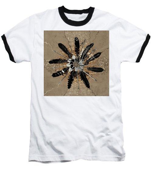 Mandala Arrow Feathers Baseball T-Shirt