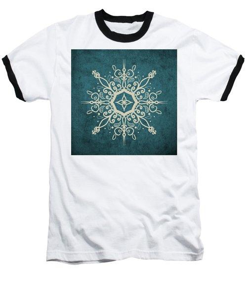Mandala Teal And Tan Baseball T-Shirt