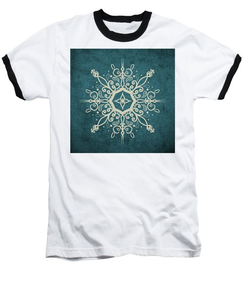 Mandala Teal And Tan Baseball T-Shirt