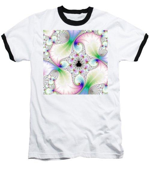 Mandebrot In Pastel Fractal Wonderland Baseball T-Shirt