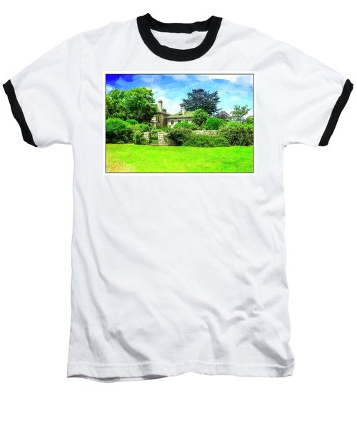 Mansion And Gardens At Harkness Park. Baseball T-Shirt