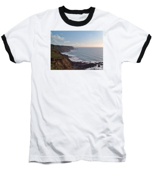 Mansley Cliff And Gull Rock From Longpeak Baseball T-Shirt