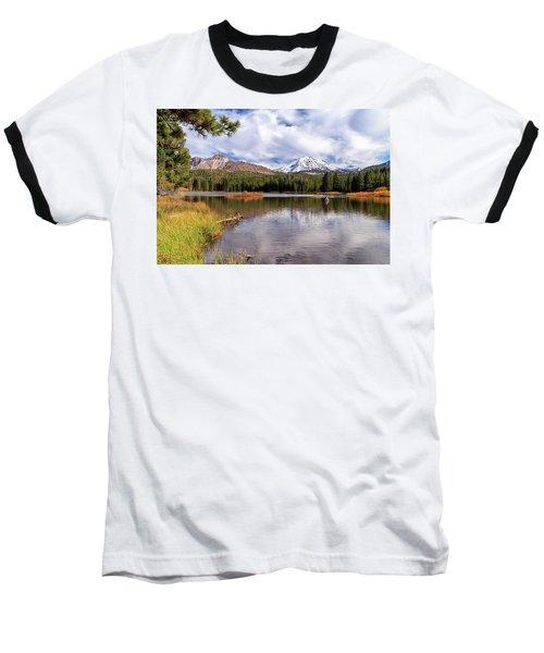 Baseball T-Shirt featuring the photograph Manzanita Lake - Mount Lassen by James Eddy