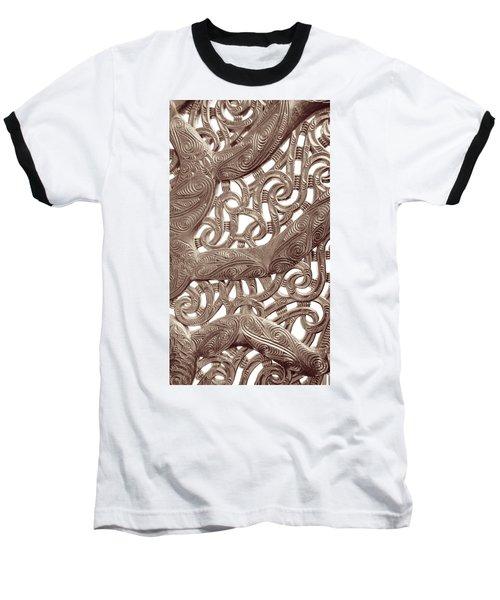 Maori Abstract Baseball T-Shirt
