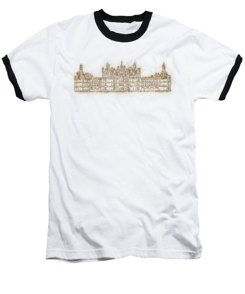 Map Of The Castle Chambord Baseball T-Shirt by Anton Kalinichev