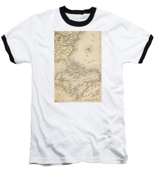Map Baseball T-Shirt by Sample