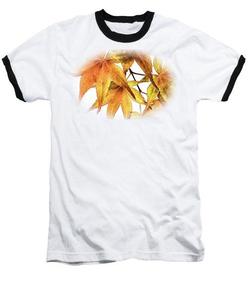 Maple Leaves Baseball T-Shirt by Barry Jones