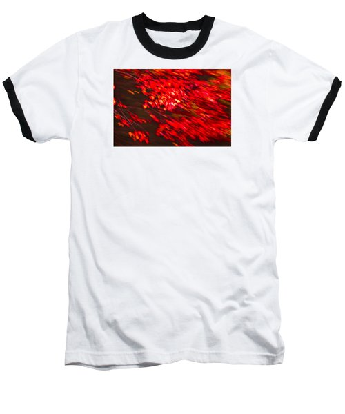 Maple Red Abstract Baseball T-Shirt