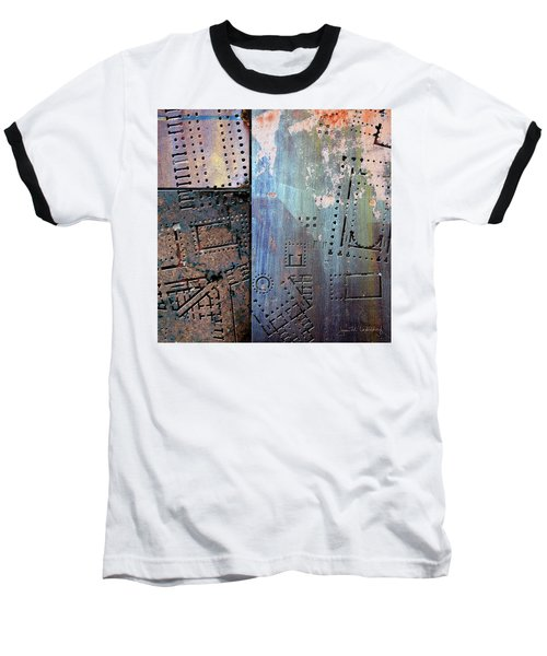 Maps #9 Baseball T-Shirt by Joan Ladendorf
