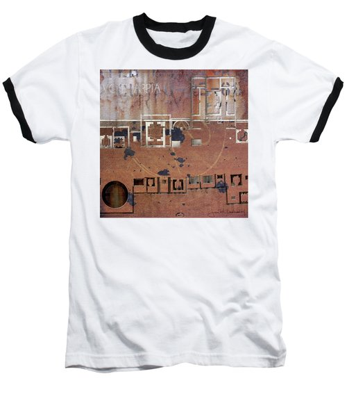 Maps #19 Baseball T-Shirt by Joan Ladendorf
