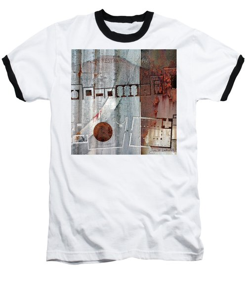 Maps #20 Baseball T-Shirt by Joan Ladendorf