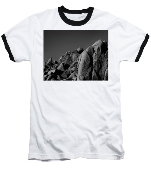 Marble Rock Formation B And W Version Baseball T-Shirt