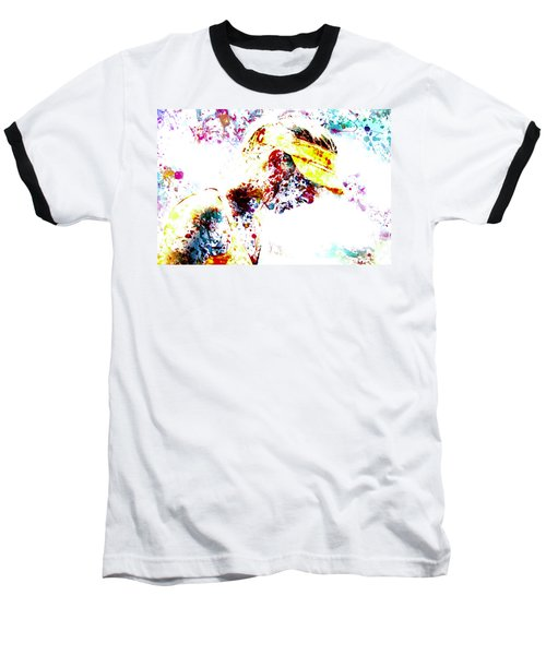 Maria Sharapova Paint Splatter 4p                 Baseball T-Shirt