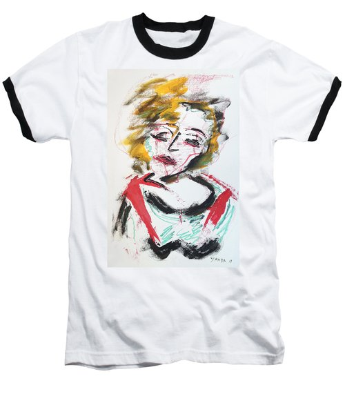 Marilyn Abstract Baseball T-Shirt