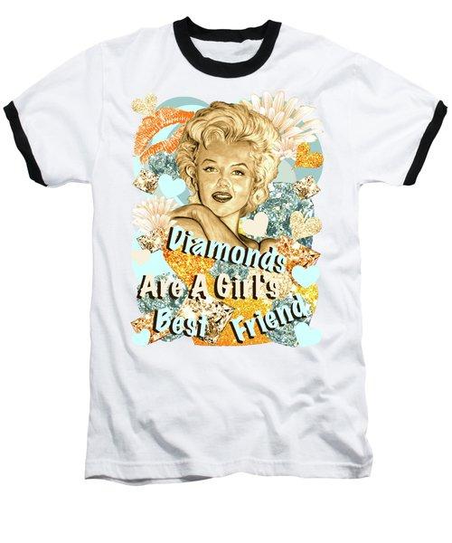 Marilyn Diamonds Are A Girls Best Friend Baseball T-Shirt by Gitta Glaeser