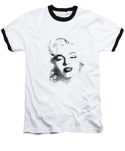 Marilyn  Baseball T-Shirt by John Barnard
