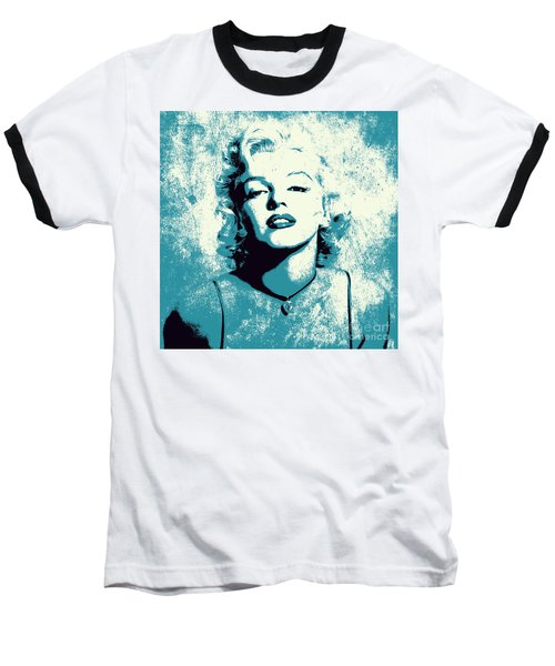 Marilyn Monroe - 201 Baseball T-Shirt by Variance Collections