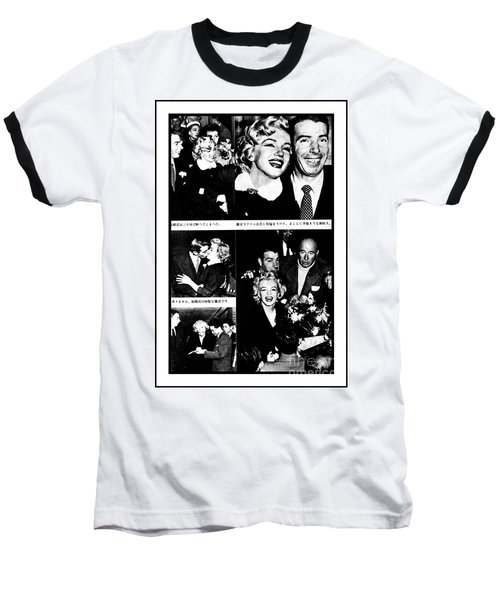 Marilyn Monroe And Joe Dimaggio 1950s Photos By Unknown Japanese Photographer Baseball T-Shirt