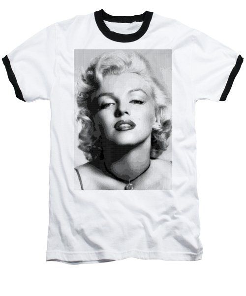 Marilyn Monroe - Bw Hexagons Baseball T-Shirt