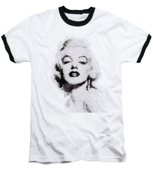 Marilyn Monroe Portrait 02 Baseball T-Shirt by Pablo Romero
