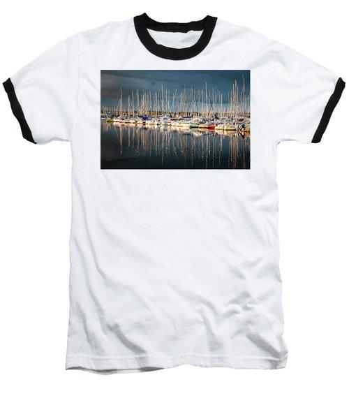 Marina Sunset 4 Baseball T-Shirt