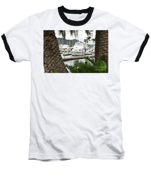 Baseball T-Shirt featuring the photograph Marina View by Yurix Sardinelly