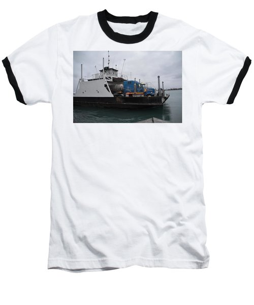 Marine City Mich Car Truck Ferry Baseball T-Shirt