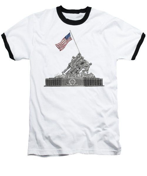 Marine Corps War Memorial - Iwo Jima Baseball T-Shirt