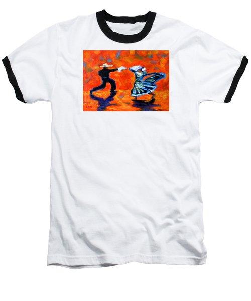 Marinera Nortenia Red, Peru Impression Baseball T-Shirt