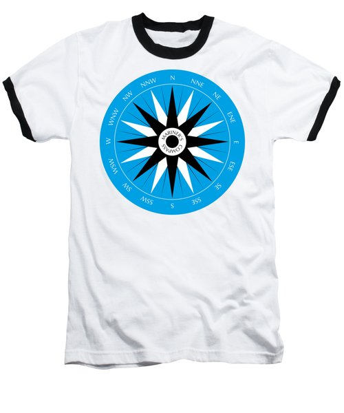 Mariner's Compass Baseball T-Shirt by Frank Tschakert