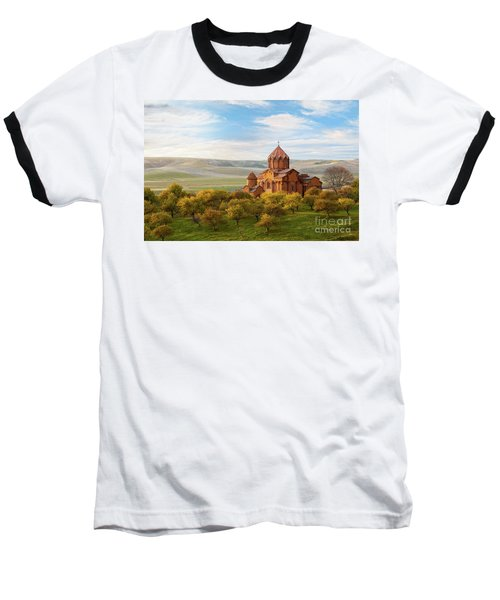 Marmashen Monastery Surrounded By Yellow Trees At Autumn, Armeni Baseball T-Shirt