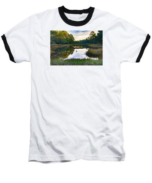 Marsh In The Morning Baseball T-Shirt