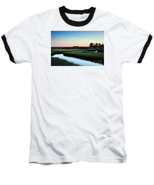 Marsh Sunset Baseball T-Shirt