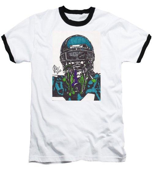 Marshawn Lynch 1 Baseball T-Shirt by Jeremiah Colley