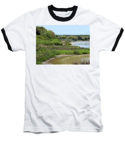 Baseball T-Shirt featuring the photograph Marshlands by Cathy Harper