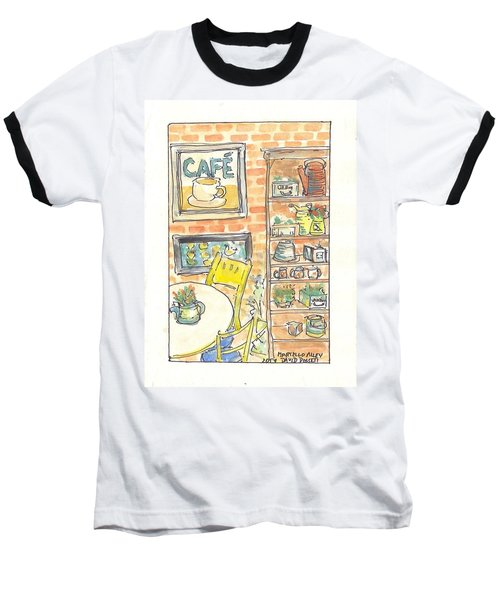 Martello Alley Baseball T-Shirt by David Dossett