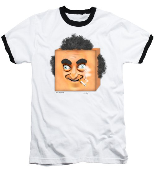 Marty Feldman Caricature Baseball T-Shirt by John Wills