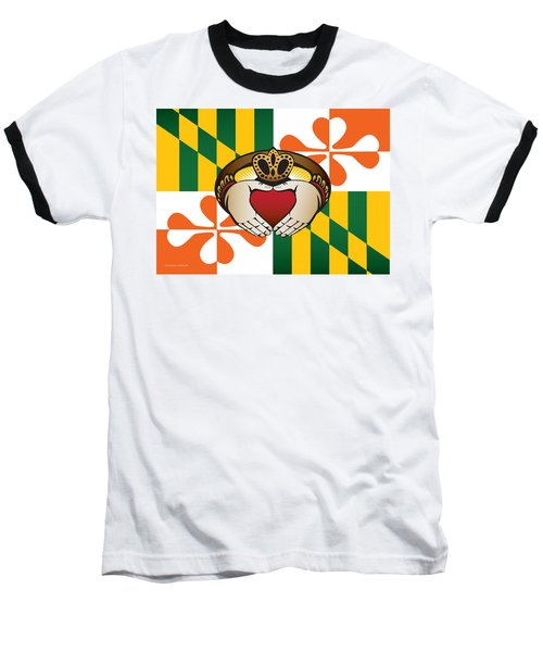 Maryland Irish Claddagh Art Baseball T-Shirt