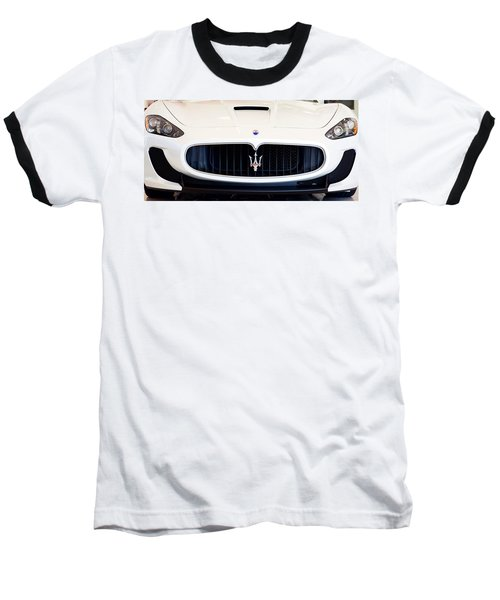 Maserati White Pano 121715 Baseball T-Shirt