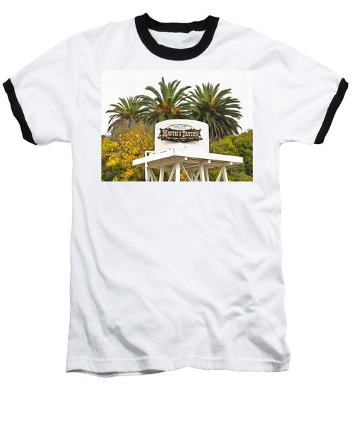 Baseball T-Shirt featuring the photograph Matties Tavern Los Olivos California by Floyd Snyder