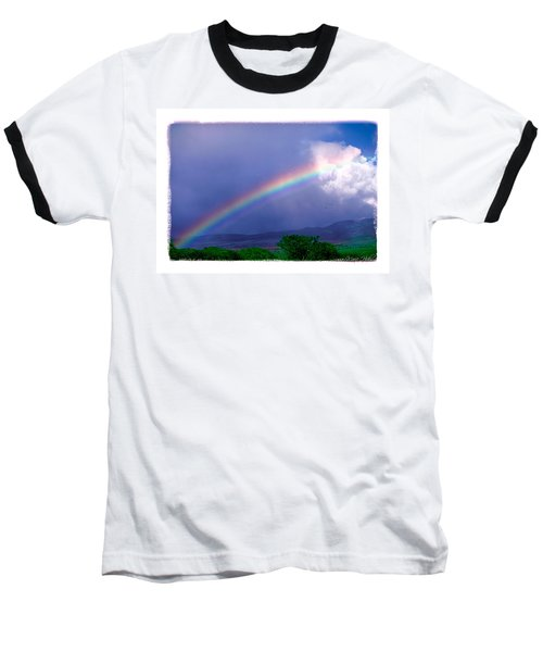 Baseball T-Shirt featuring the photograph Maui Rainbow by Marie Hicks