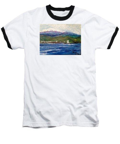 Mauna Kea At Hilo Bay Baseball T-Shirt