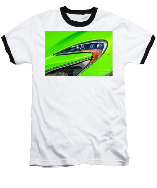 Baseball T-Shirt featuring the photograph Mclaren P1 Headlight by Aloha Art