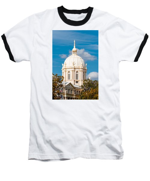 Mclennan County Courthouse Dome By J. Reily Gordon - Waco Central Texas Baseball T-Shirt