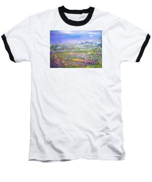 Meadow Sky By Colleen Ranney Baseball T-Shirt