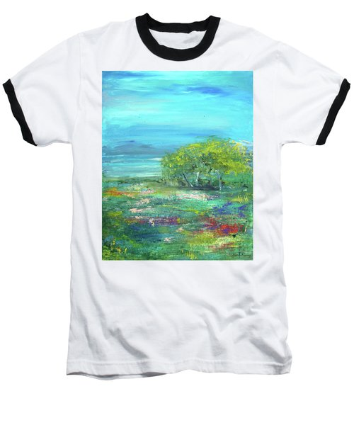 Meadow Trees Baseball T-Shirt