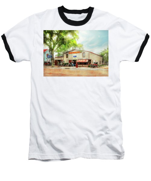 Baseball T-Shirt featuring the photograph Mechanic - All Cars Finely Tuned 1920 by Mike Savad