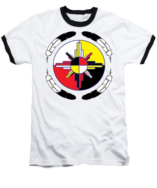 Medicine Wheel Baseball T-Shirt