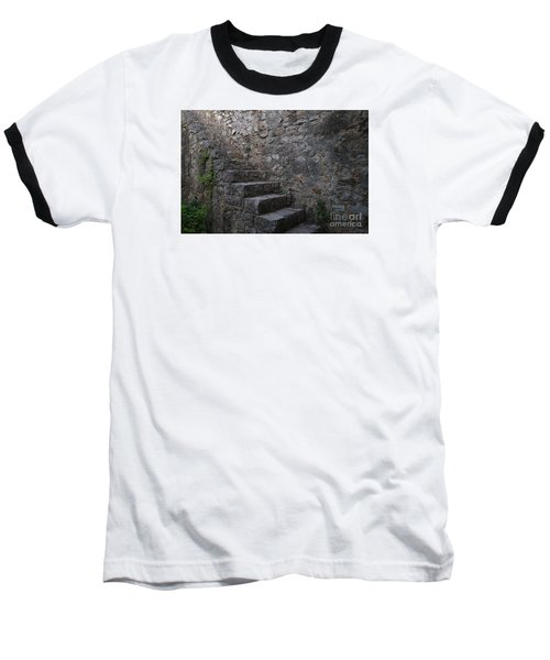 Medieval Wall Staircase Baseball T-Shirt by Angelo DeVal